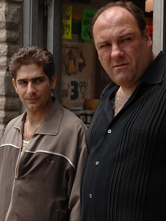 James Gandolfini and Michael Imperioli in The Sopranos (1999)