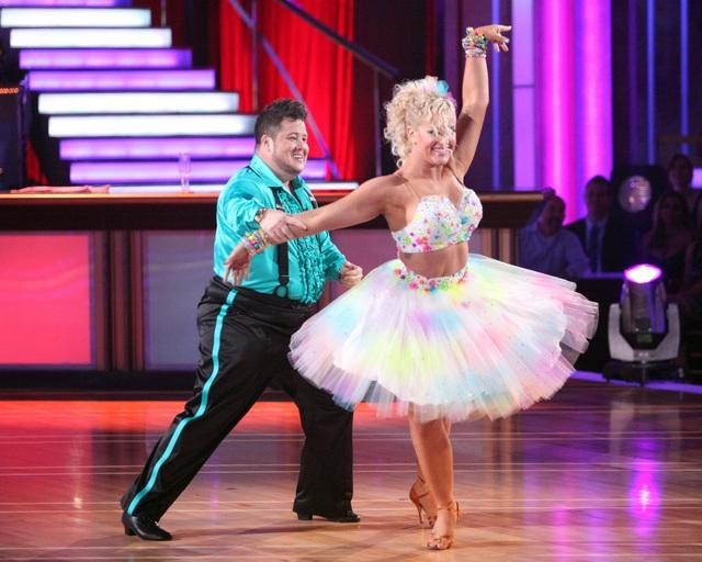 Chaz Bono and Lacey Schwimmer in Dancing with the Stars (2005)