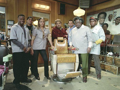 (Left to right) SEAN PATRICK THOMAS, MICHAEL EALY, EVE, ICE CUBE, TROY GARITY, CEDRIC THE ENTERTAINER, and LEONARD HOWZE