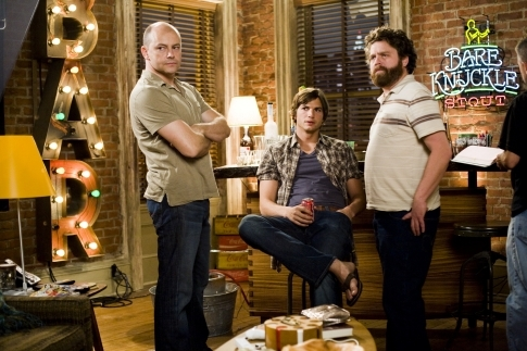 Ashton Kutcher, Zach Galifianakis, and Rob Corddry in What Happens in Vegas (2008)