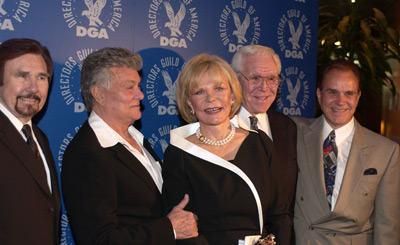 Tony Curtis, Corinne Cole, Rich Little, Gary Owens, and Robert H. Schuller