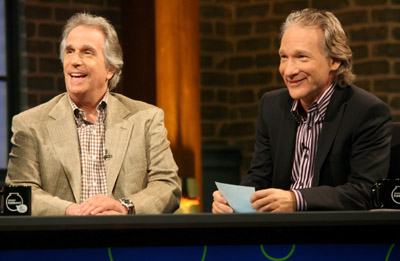 Henry Winkler and Bill Maher at Amazon Fishbowl with Bill Maher (2006)