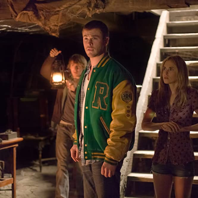 Anna Hutchison, Fran Kranz, and Chris Hemsworth in The Cabin in the Woods (2012)