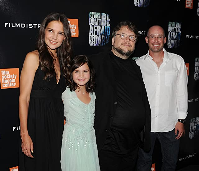 Katie Holmes, Guillermo del Toro, Bailee Madison, and Troy Nixey at Don't Be Afraid of the Dark (2010)