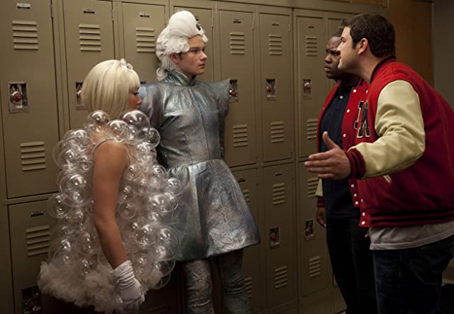 Max Adler, Chris Colfer, and Jenna Ushkowitz in Glee (2009)