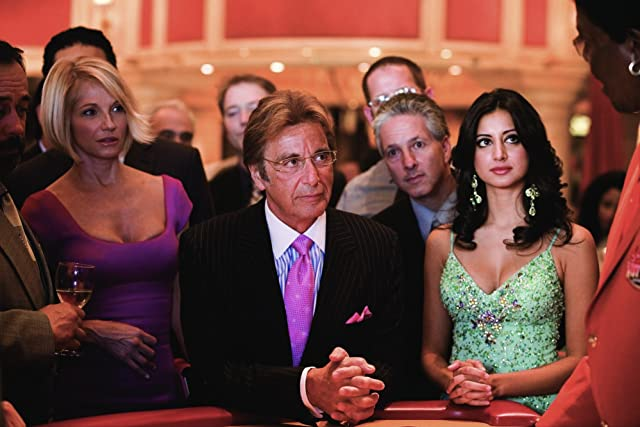 Al Pacino, Ellen Barkin, and Noureen DeWulf in Ocean's Thirteen (2007)