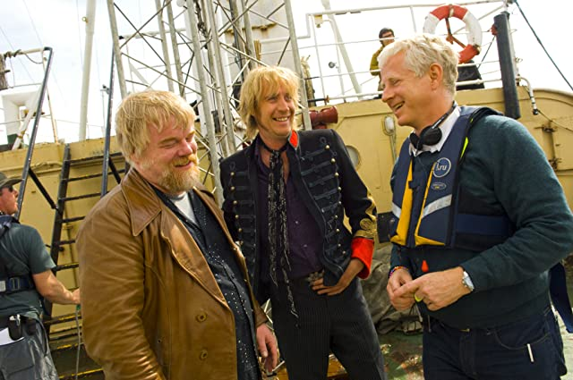 Philip Seymour Hoffman, Richard Curtis, and Rhys Ifans at an event for Pirate Radio (2009)