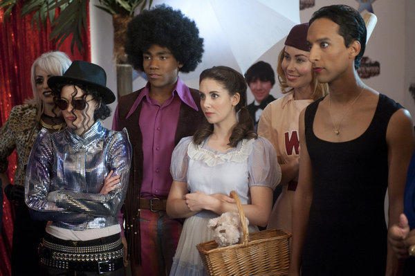 Alison Brie, Gillian Jacobs, Danny Pudi, and Donald Glover in Community (2009)