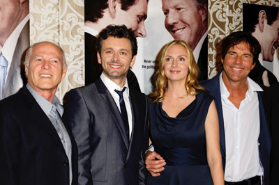 Dennis Quaid, Hope Davis, Frank Marshall, and Michael Sheen at The Special Relationship (2010)