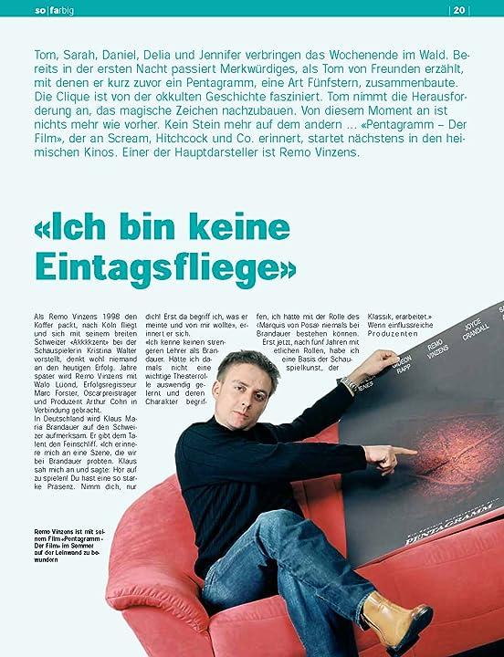 Remo Vinzens magazin Cover