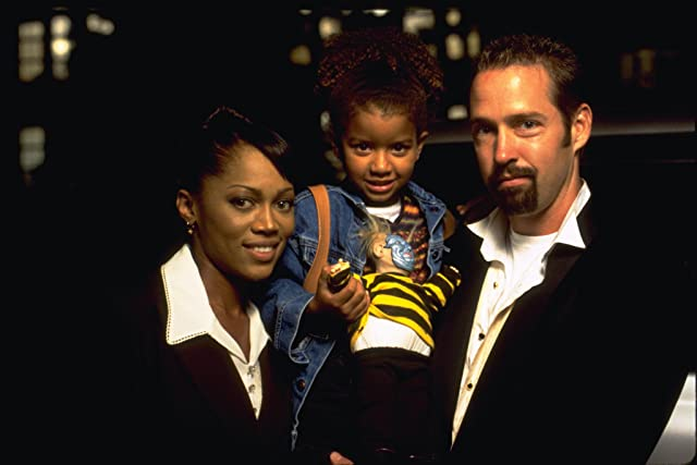 D.B. Sweeney, Theresa Randle, and Sydni Beaudoin in Spawn (1997)