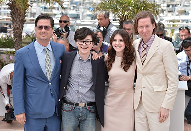 Wes Anderson, Roman Coppola, Jared Gilman, and Kara Hayward at Moonrise Kingdom (2012)