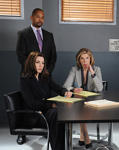 Julianna Margulies, Christine Baranski, and Michael Boatman in The Good Wife (2009)