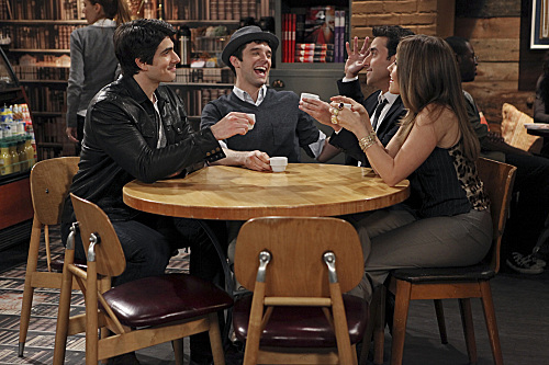 Sophia Bush, David Krumholtz, Brandon Routh, and Michael Urie in Partners (2012)