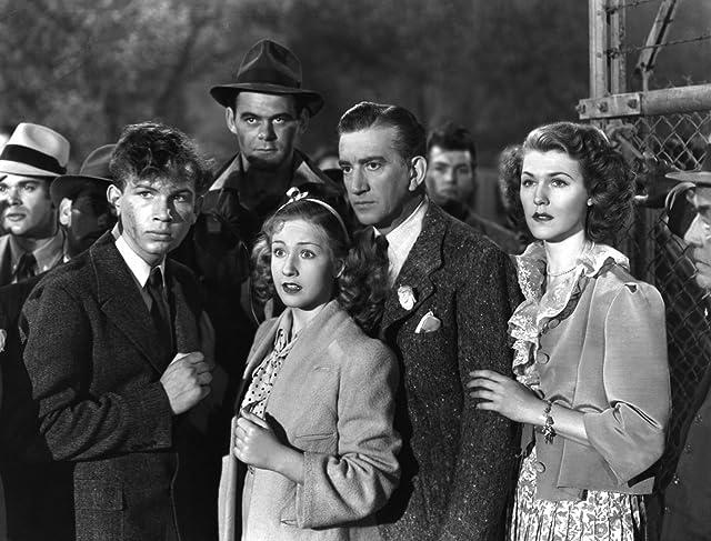 Helena Phillips Evans, Bonita Granville, John Litel, and Frankie Thomas in Nancy Drew: Detective (1938)