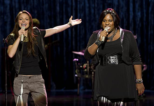 Melissa Benoist and Alex Newell in Glee (2009)