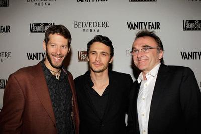 Danny Boyle, James Franco, and Aron Ralston