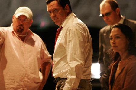 Michael Madsen, Irene Bedard, and Stephen Savage in Cosmic Radio (2007)
