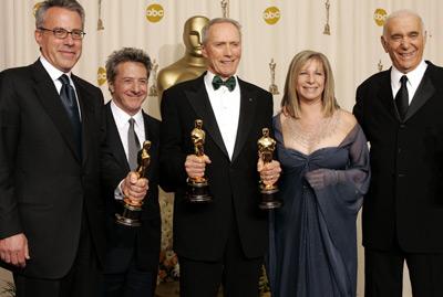 Clint Eastwood, Dustin Hoffman, Barbra Streisand, Tom Rosenberg, and Albert S. Ruddy