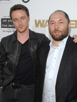 Timur Bekmambetov and James McAvoy at Wanted (2008)