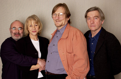 Helen Mirren, Bob Hoskins, Tom Courtenay, and Fred Schepisi at an event for Last Orders (2001)