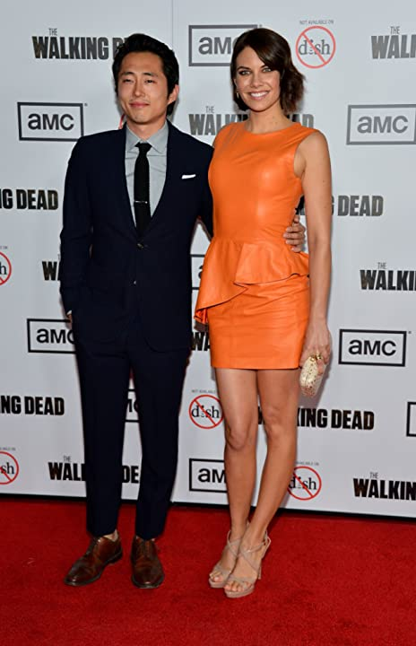 Lauren Cohan and Steven Yeun at an event for The Walking Dead (2010)