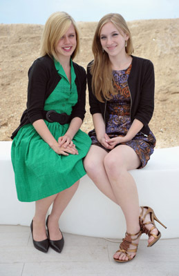 (L-R) Amanda Bauer and Claire Sloma attend the 'The Myth of the American Sleepover' Photo Call held at the Martini Terraza during the 63rd Annual International Cannes Film Festival on May 19, 2010 in Cannes, France.