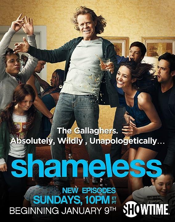William H. Macy, Emmy Rossum, Justin Chatwin, Steve Howey, Cameron Monaghan, Shanola Hampton, Jeremy Allen White, and Emma Kenney in Shameless (2011)