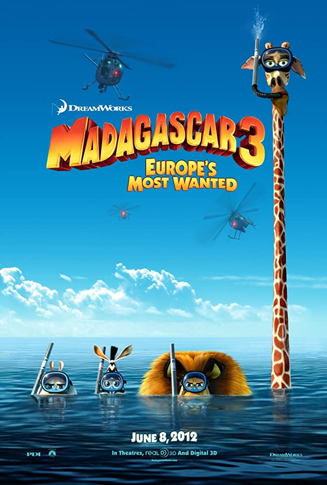 Madagascar 3: Europe's Most Wanted (2012) Cover