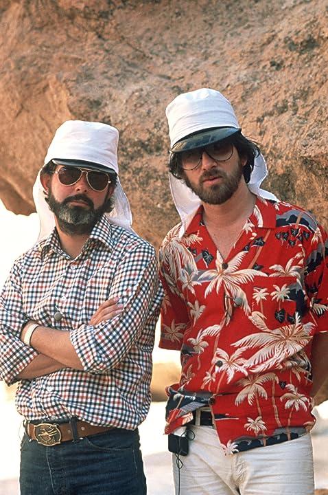George Lucas and Steven Spielberg in Raiders of the Lost Ark (1981)