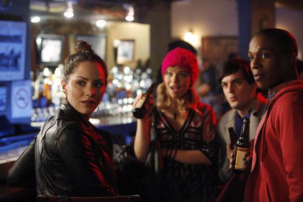 Wesley Taylor, Leslie Odom Jr., Katharine McPhee, and Savannah Wise in Smash (2012)