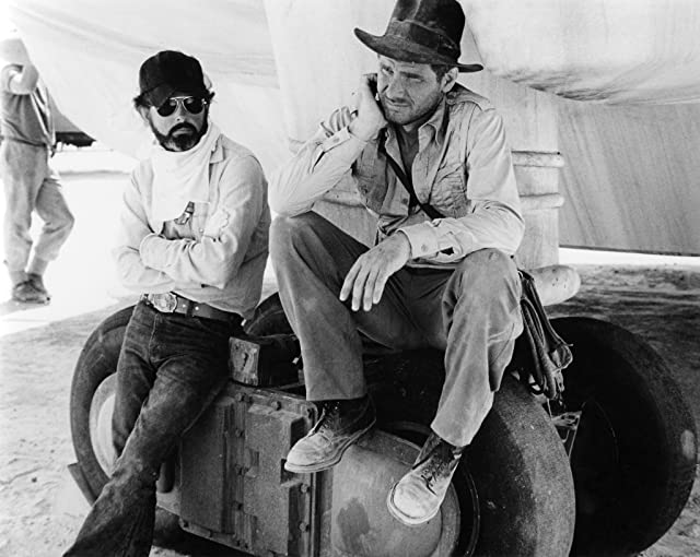 Harrison Ford and George Lucas in Raiders of the Lost Ark (1981)