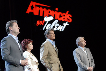 David Hasselhoff, Jerry Springer, Piers Morgan, and Sharon Osbourne in America's Got Talent (2006)