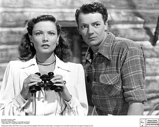 Gene Tierney and Cornel Wilde in Leave Her to Heaven (1945)
