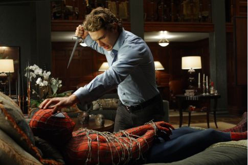 Tobey Maguire and James Franco in Spider-Man 2 (2004)