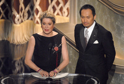 Catherine Deneuve and Ken Watanabe at an event for The 79th Annual Academy Awards (2007)