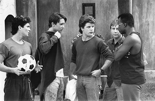 Sean Astin, Wil Wheaton, Keith Coogan, George Perez, and T.E. Russell in Toy Soldiers (1991)