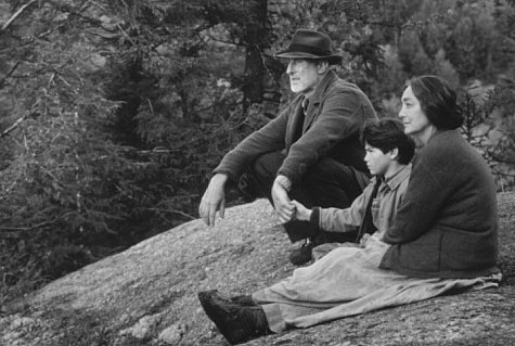 James Cromwell, Tantoo Cardinal, and Joseph Ashton in The Education of Little Tree (1997)