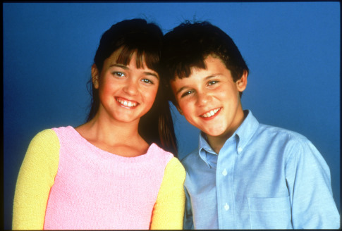 Fred Savage and Danica McKellar in The Wonder Years (1988)
