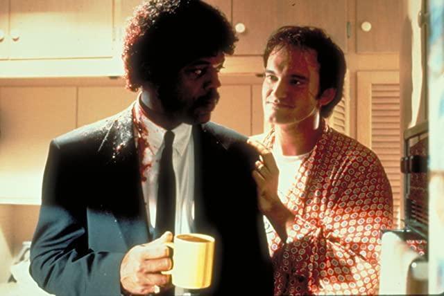 Samuel L. Jackson and Quentin Tarantino in Pulp Fiction (1994)