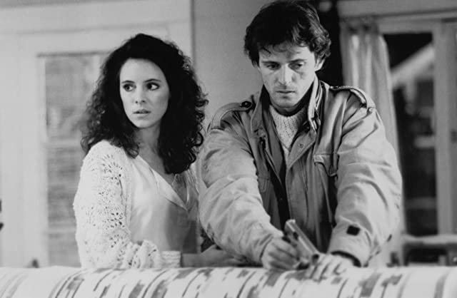 Madeleine Stowe and Aidan Quinn in Stakeout (1987)