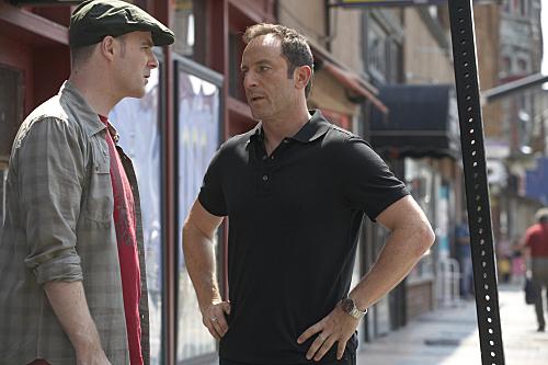 Jason Isaacs and Brían F. O'Byrne in Brotherhood (2006)