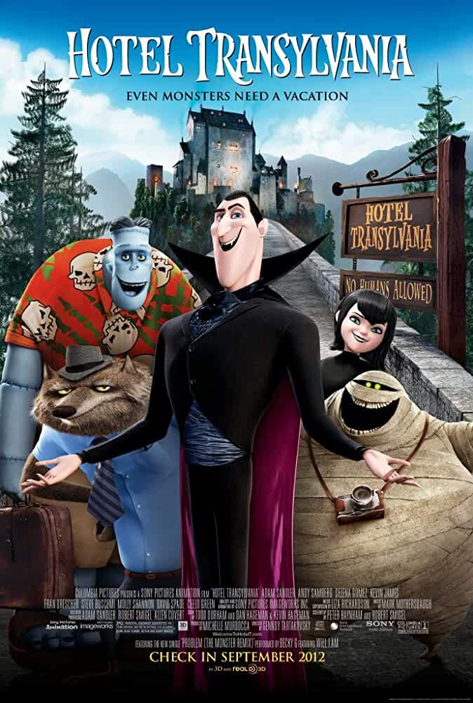 Poster Hotel Transylvania 2012 300MB Movie Download Dual Audio HD Free