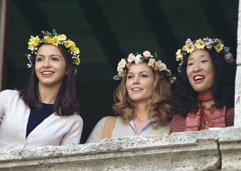 (l to r) Giulia Steigerwalt, Diane Lane, and Sandra Oh