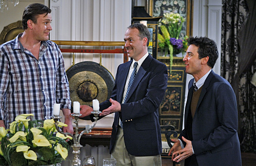Jason Segel, Josh Radnor, and Will Shortz in How I Met Your Mother (2005)
