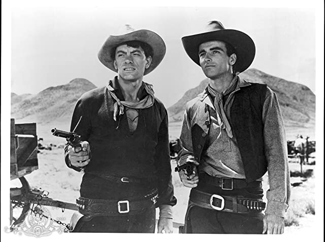 Montgomery Clift and John Ireland in Red River (1948)