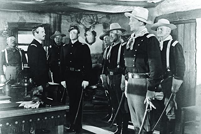 Henry Fonda, John Wayne, John Agar, and George O'Brien in Fort Apache (1948)