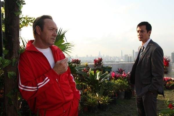 Kevin Spacey and Daniel Wu in Inseparable (2011)