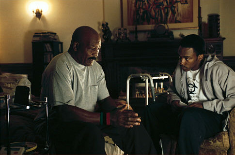 Jim Brown and Anthony Mackie in She Hate Me (2004)