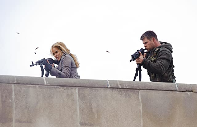 Chris Hemsworth and Isabel Lucas in Red Dawn (2012)